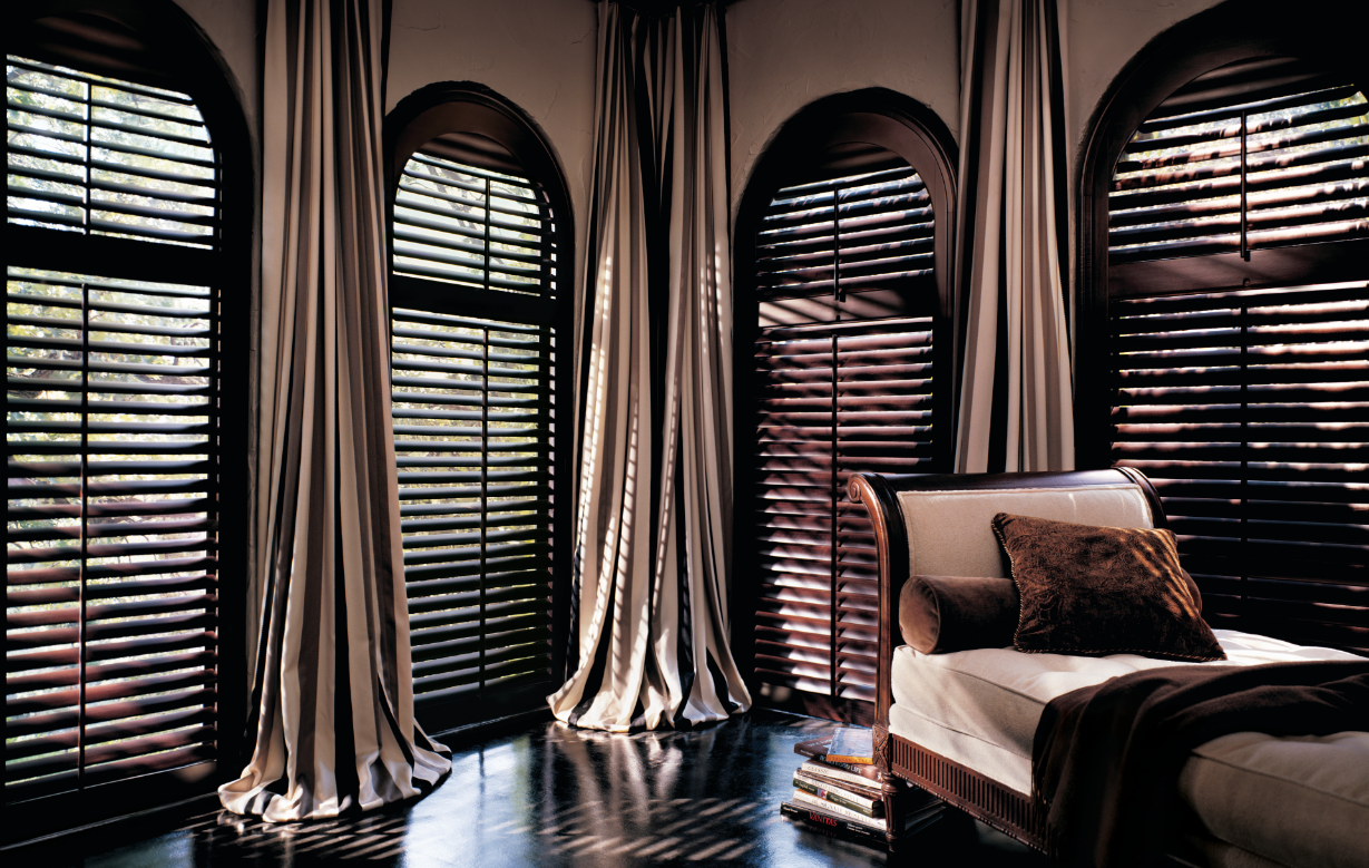 Hunter Douglas - Heritance® Hardwood Shutters with Arched Panels
